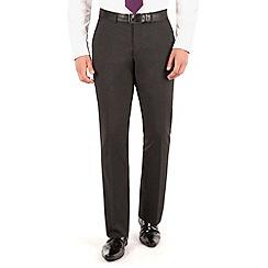 The Collection - Charcoal plain regular fit suit trouser