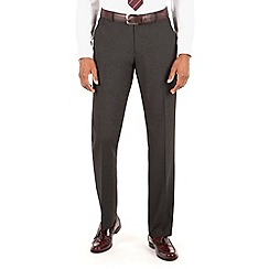 The Collection - Charcoal plain tailored fit suit trouser