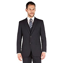 The Collection - Navy plain regular fit 2 button suit