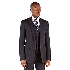 The Collection - Navy plain tailored fit 2 button suit jacket