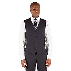 The Collection - Navy plain 5 button front waistcoat
