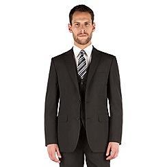 The Collection - Black stripe regular fit 2 button suit