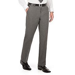 The Collection - Grey semi plain regular fit suit trouser
