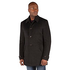 Racing Green - Craft Checked Wool Blend Car Coat