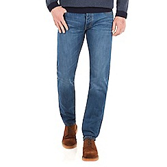 Racing Green - Dene Straight Fit Blue Wash Jean