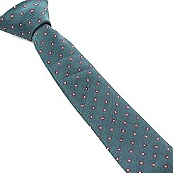 Racing Green - Maddox Flower Design Tie