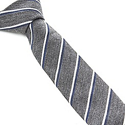 Racing Green - Copley Bias Cut Stripe Tie