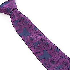 Stvdio by Jeff Banks - Stvdio by Jeff Banks Purple Poppy Tie