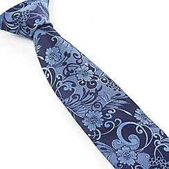 Stvdio by Jeff Banks - Stvdio by Jeff Banks Blue Swirl Floral Tie