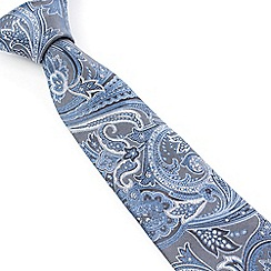 Stvdio by Jeff Banks - Stvdio by Jeff Banks Grey Paisley Tie