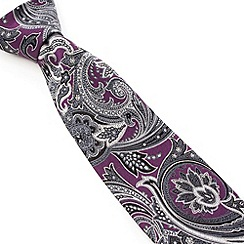 Stvdio by Jeff Banks - Stvdio by Jeff Banks Purple Paisley Tie