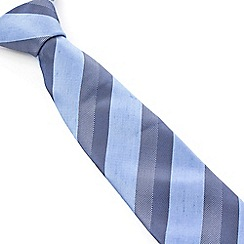 Stvdio by Jeff Banks - Stvdio by Jeff Banks Blue Tonal Stripe Tie
