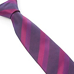 Stvdio by Jeff Banks - Stvdio by Jeff Banks Magenta Tonal Stripe Tie