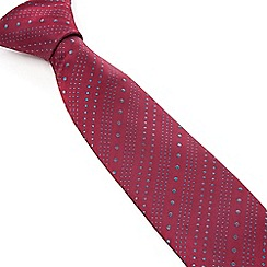Stvdio by Jeff Banks - Stvdio by Jeff Banks Wine Ascending Dots Tie