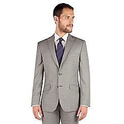 J by Jasper Conran - Grey pick and pick 2 button front tailored fit occasions suit jacket