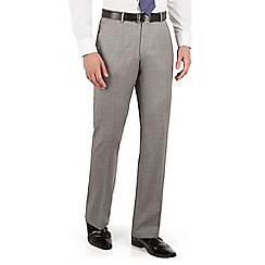 J by Jasper Conran - Grey pick and pick flat front tailored fit occsions suit trouser