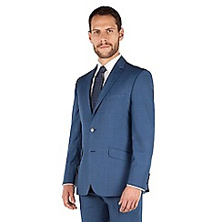 J by Jasper Conran - J by Jasper Conran Blue pick and pick 2 button front tailored fit business suit jacket