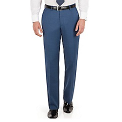 J by Jasper Conran - J by Jasper Conran Blue pick and pick flat front tailored fit business suit trouser