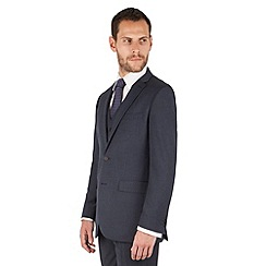 The Collection - Navy semi plain regular fit 2 button suit jacket