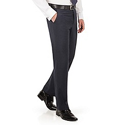 The Collection - Navy semi plain regular fit suit trouser
