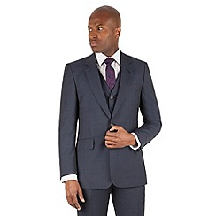 Hammond & Co. by Patrick Grant - Blue toanl check 2 button front tailored fit st james suit jacket