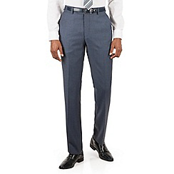 Hammond & Co. by Patrick Grant - Blue pick and pick plain front tailored fit suit trouser