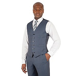 Hammond & Co. by Patrick Grant - Blue pick and pick 6 button tailored fit suit waistcoat
