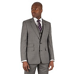 Hammond & Co. by Patrick Grant - Grey pick and pick 2 button front tailored fit st james suit jacket