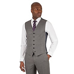 Hammond & Co. by Patrick Grant - Hammond & Co. by Patrick Grant Grey pick and pick 6 button tailored fit suit waistcoat