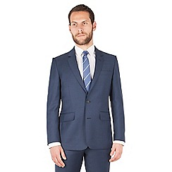 Hammond & Co. by Patrick Grant - Dark blue plain 2 button front tailored fit st james suit jacket