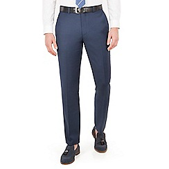 Hammond & Co. by Patrick Grant - Slate Dark blue plain front tailored fit suit trouser