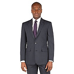 Hammond & Co. by Patrick Grant - Slate Grey Stripe 2 button front tailored fit st james suit jacket