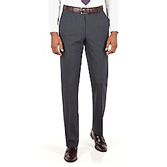 Hammond & Co. by Patrick Grant - Slate grey stripe plain front tailored fit suit trouser