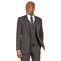 Hammond & Co. by Patrick Grant - Grey tonal check 2 button front tailored fit st james suit jacket