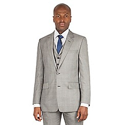Hammond & Co. by Patrick Grant - Grey check single breasted savile row suit jacket