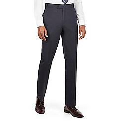 Hammond & Co. by Patrick Grant - Blue textured plain front savile row suit trouser