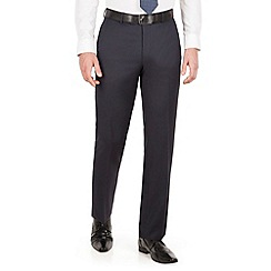 J by Jasper Conran - J by Jasper Conran Navy stripe flat front regular fit business suit trouser