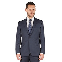 J by Jasper Conran - J by Jasper Conran Blue check 2 button front tailored fit business suit jacket