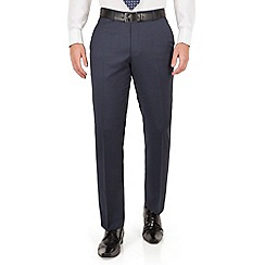 J by Jasper Conran - J by Jasper Conran Blue check plain front tailored fit business suit trouser