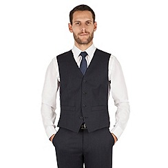 J by Jasper Conran - J by Jasper Conran Navy mirco 4 button front tailored fit occasions suit waistcoat