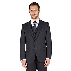 J by Jasper Conran - J by Jasper Conran Navy micro 1 button front tailored fit occasions suit jacket