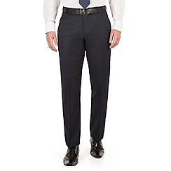 J by Jasper Conran - J by Jasper Conran Navy mirco plain front tailored fit occasions suit trouser