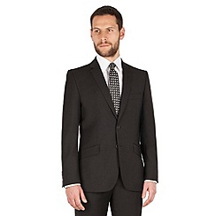J by Jasper Conran - J by Jasper Conran Black 2 button front tailored fit italian suit jacket