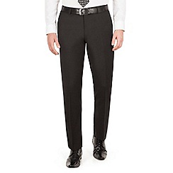J by Jasper Conran - J by Jasper Conran J by Jasper Conran Black flat front tailored fit italian suit trouser