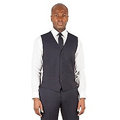 J by Jasper Conran - J by Jasper Conran Navy 4 button front tailored fit italian suit waistcoat