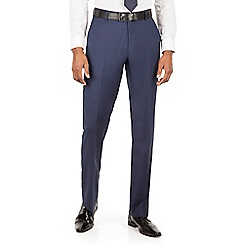 J by Jasper Conran - Blue flat front tailored fit italian suit trouser
