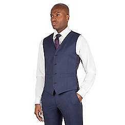 J by Jasper Conran - J by Jasper Conran Blue 4 button front tailored fit italian suit waistcoat