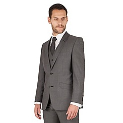 J by Jasper Conran - Charcoal 2 button front tailored fit italian suit jacket