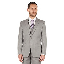 J by Jasper Conran - J by Jasper Conran Light grey 2 button front tailored fit italian suit jacket