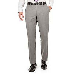 J by Jasper Conran - J by Jasper Conran J by Jasper Conran Light grey flat front tailored fit Italian suit trousers